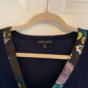 J. Crew Sweaters - J. Crew x Abigail Borg Floral Navy Sweater